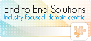 Experience our Domain Centric, Industry Focussed End-to-End IT Solutions